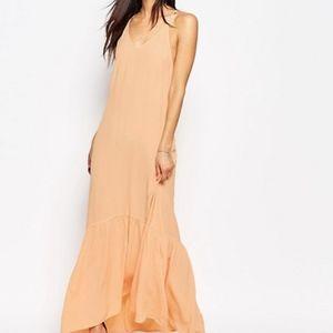 new drop waist peach Flynn Skye Topanga Maxi Dress